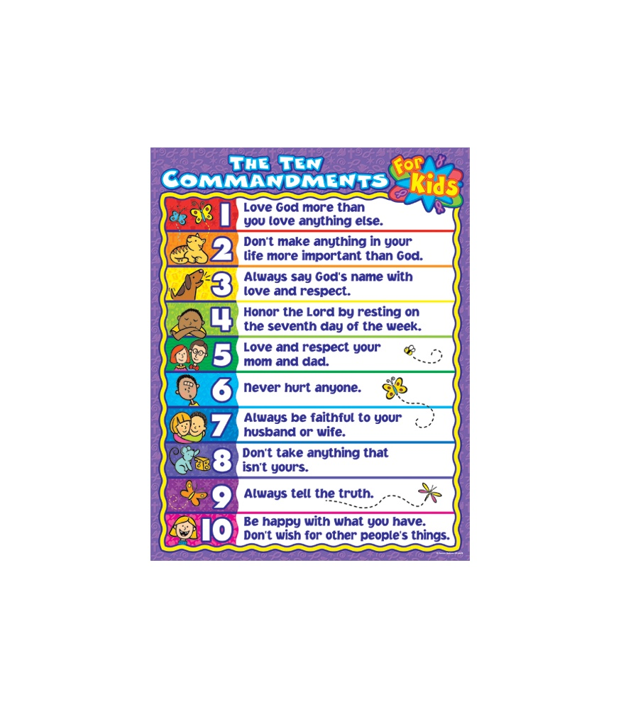 home images the ten commandments for kids poster the ten commandments ...