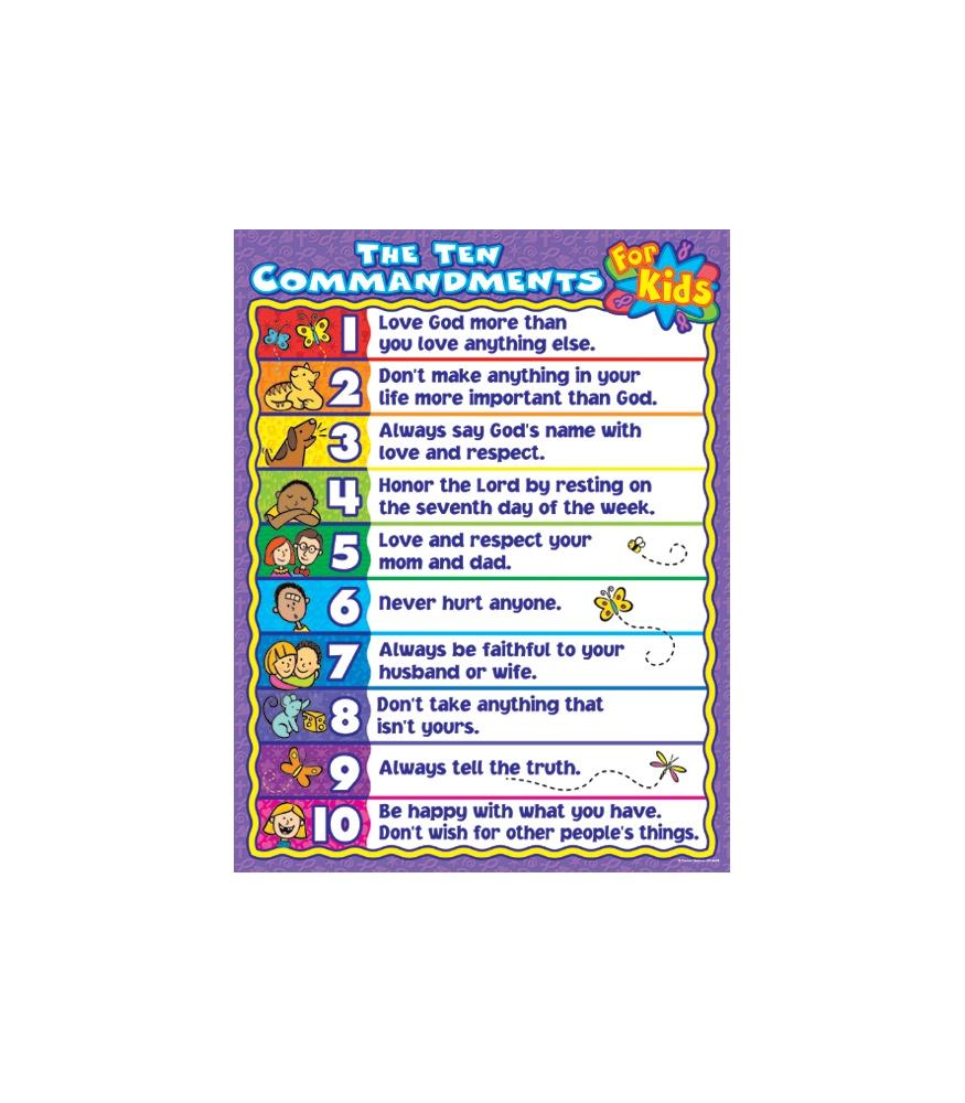 the ten commandments for kids poster the ten commandments for kids ...